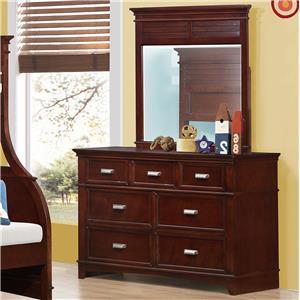 Austin Group Skylar Dresser and Mirror Set