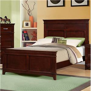 Austin Group Skylar Full Bed with Crown Moulding
