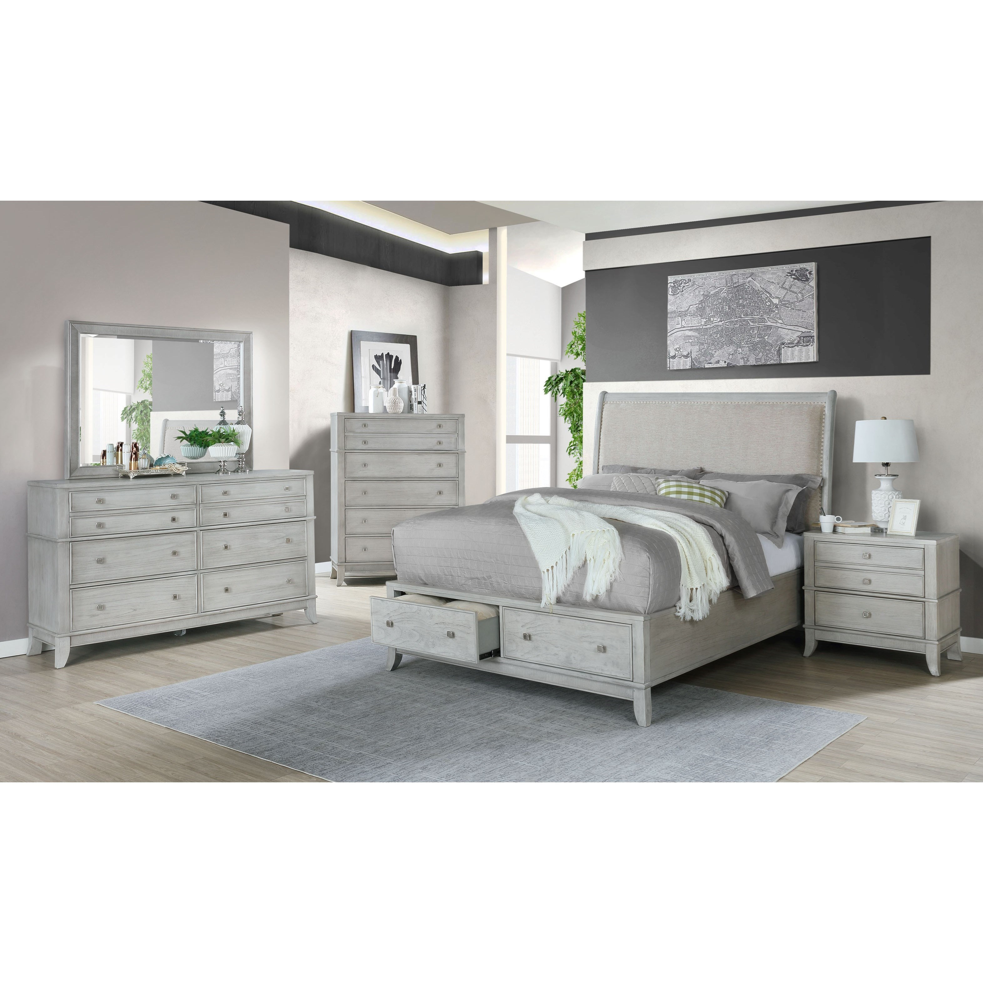 B00191 Queen Bedroom Group by Avalon Furniture at Household Furniture