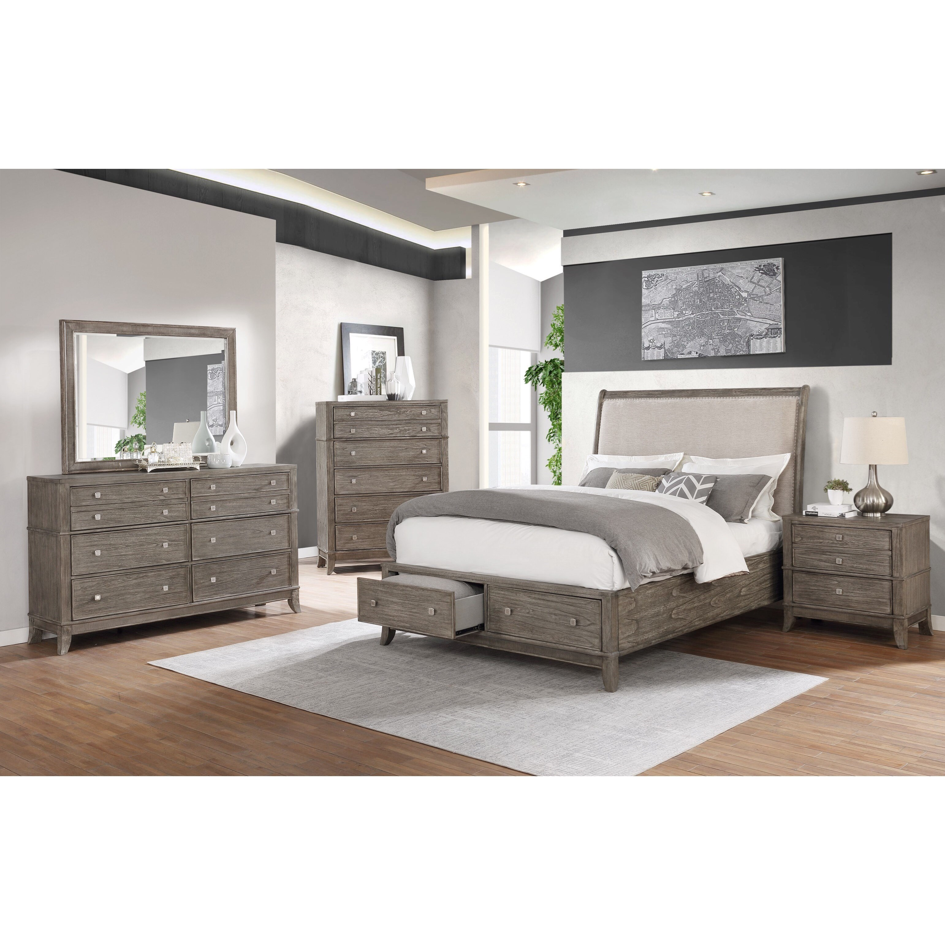 B00193 6 Piece King Bedroom by Avalon Furniture at Household Furniture