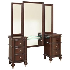 Traditional Vanity & Tri Fold Mirror