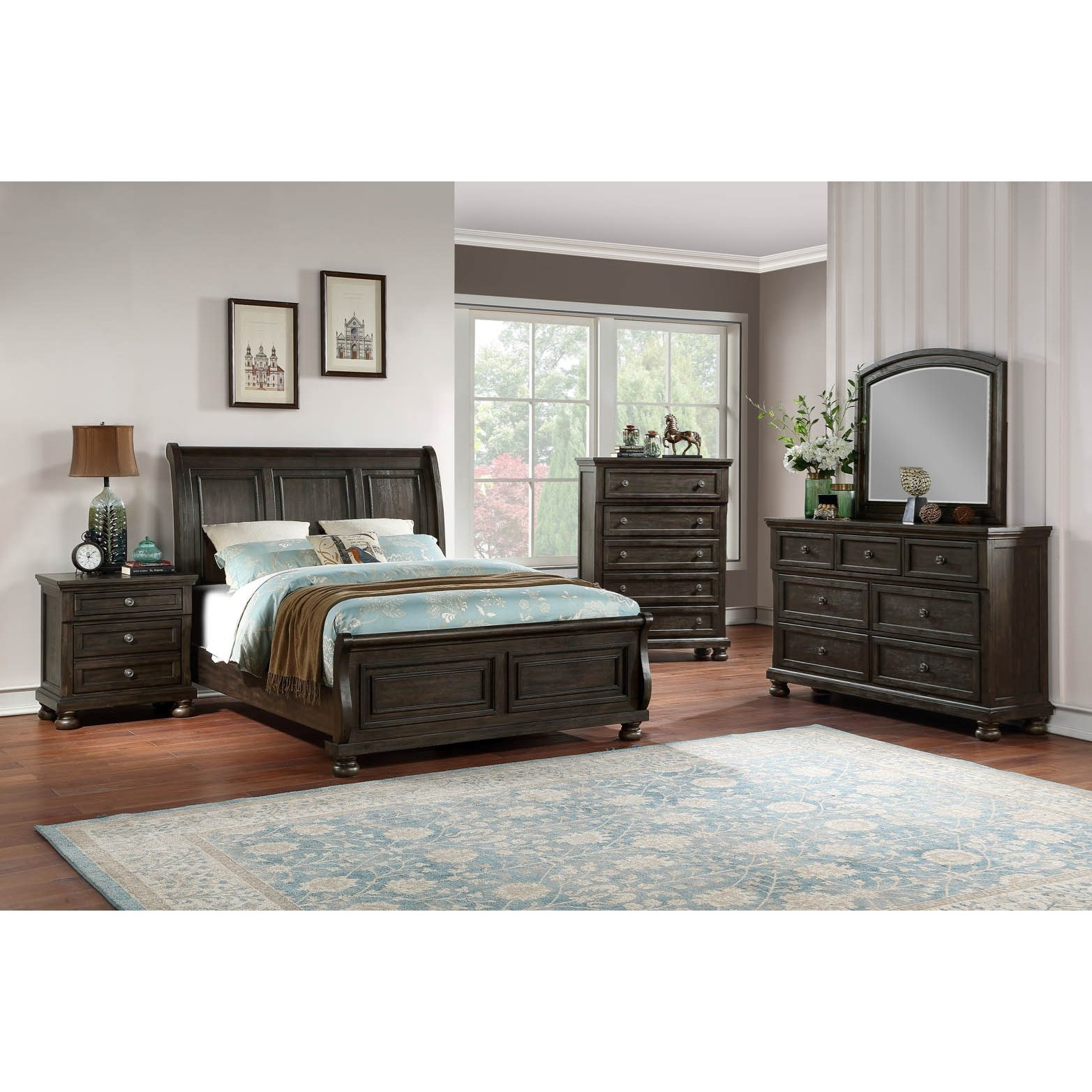 B02255 6 Piece King Bedroom by Avalon Furniture at Household Furniture