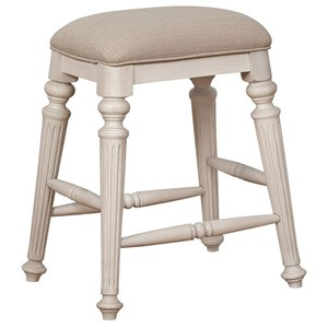 Kitchen Island Stool with Upholstered Seat