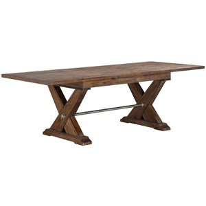 Rustic Solid Wood Dining Table with Butterfly Leaf