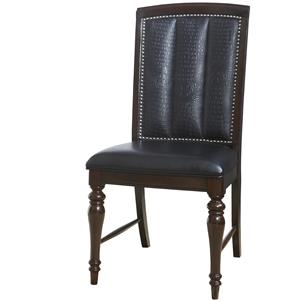 Dining Side Chair with Nailhead Trim