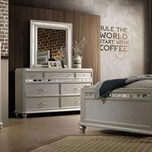 Glam Seven Drawer Dresser and Mirror Set