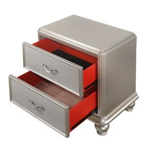Glam Two Drawer Night Stand