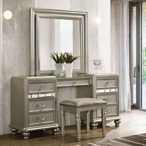 Glam 7-Drawer Vanity Set with LED Remote