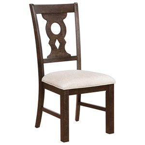 Keyhole Splat Dining Chair with Upholstered Seat