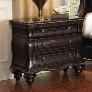 Traditional 3-Drawer Nightstand with Double USB Charger