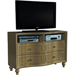 Glam Media Chest with Radius Front