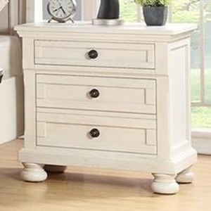 Traditional 2-Drawer Nightstand with Hidden Drawer and USB Charging Port