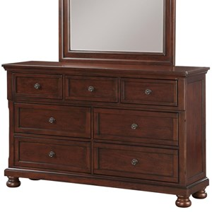 Traditional 7-Drawer Dresser with Hidden Jewelry Tray Drawer