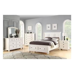 Queen Storage Bed, Dresser, Mirror & Nightstand