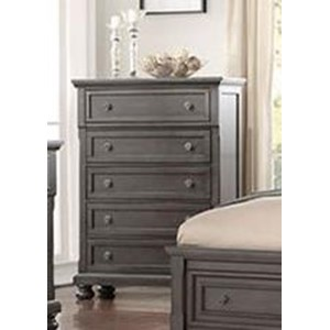 Transitional Chest of Drawers with Felt and Cedar-Lined Drawers