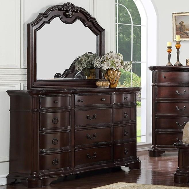 St Louis Dresser and Mirror by Avalon Furniture at Wilcox Furniture