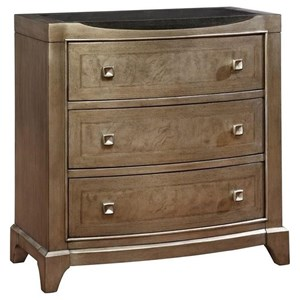 Transitional 2-Drawer Bedside Chest with USB