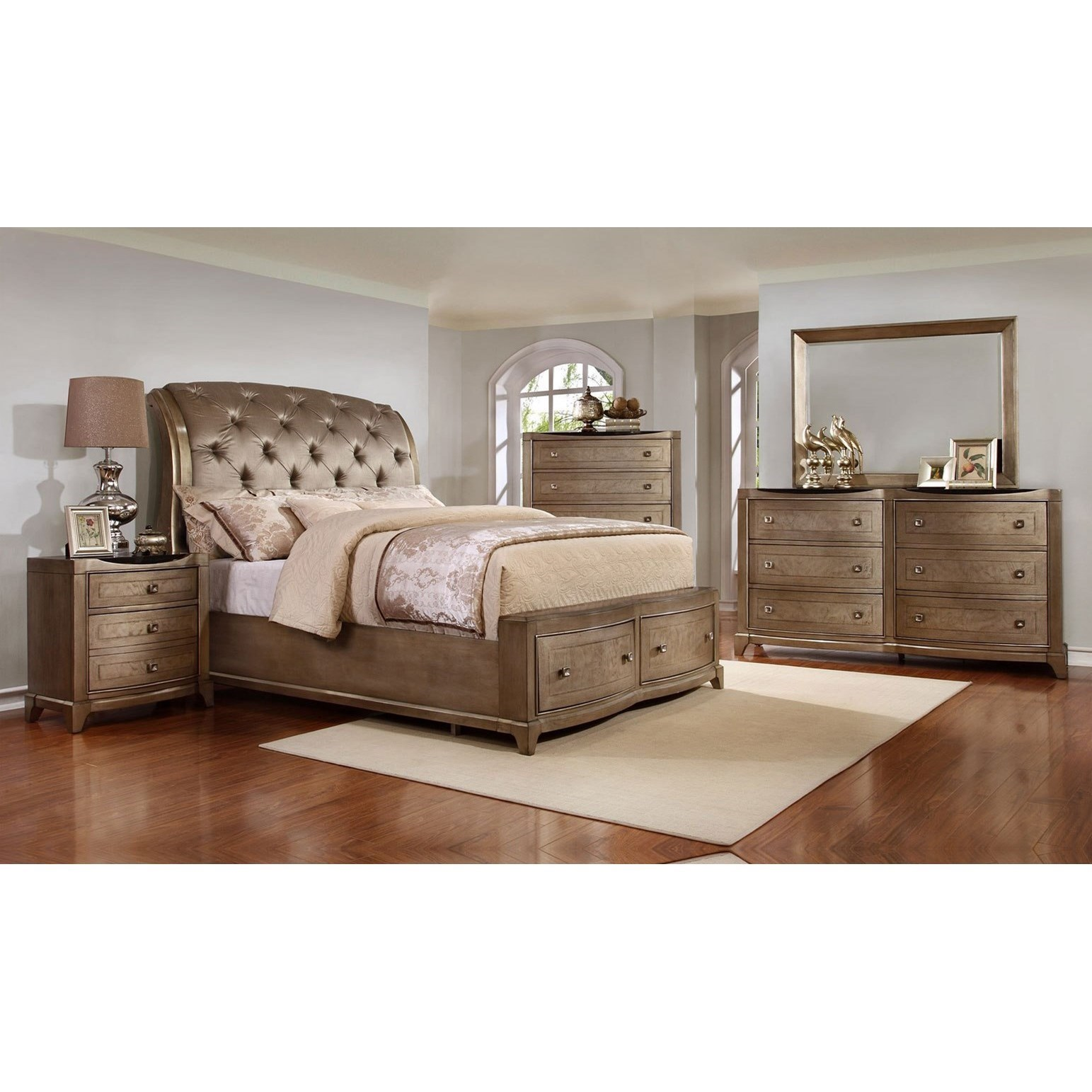 Uptown Queen Bedroom Group by Avalon Furniture at Wilcox Furniture