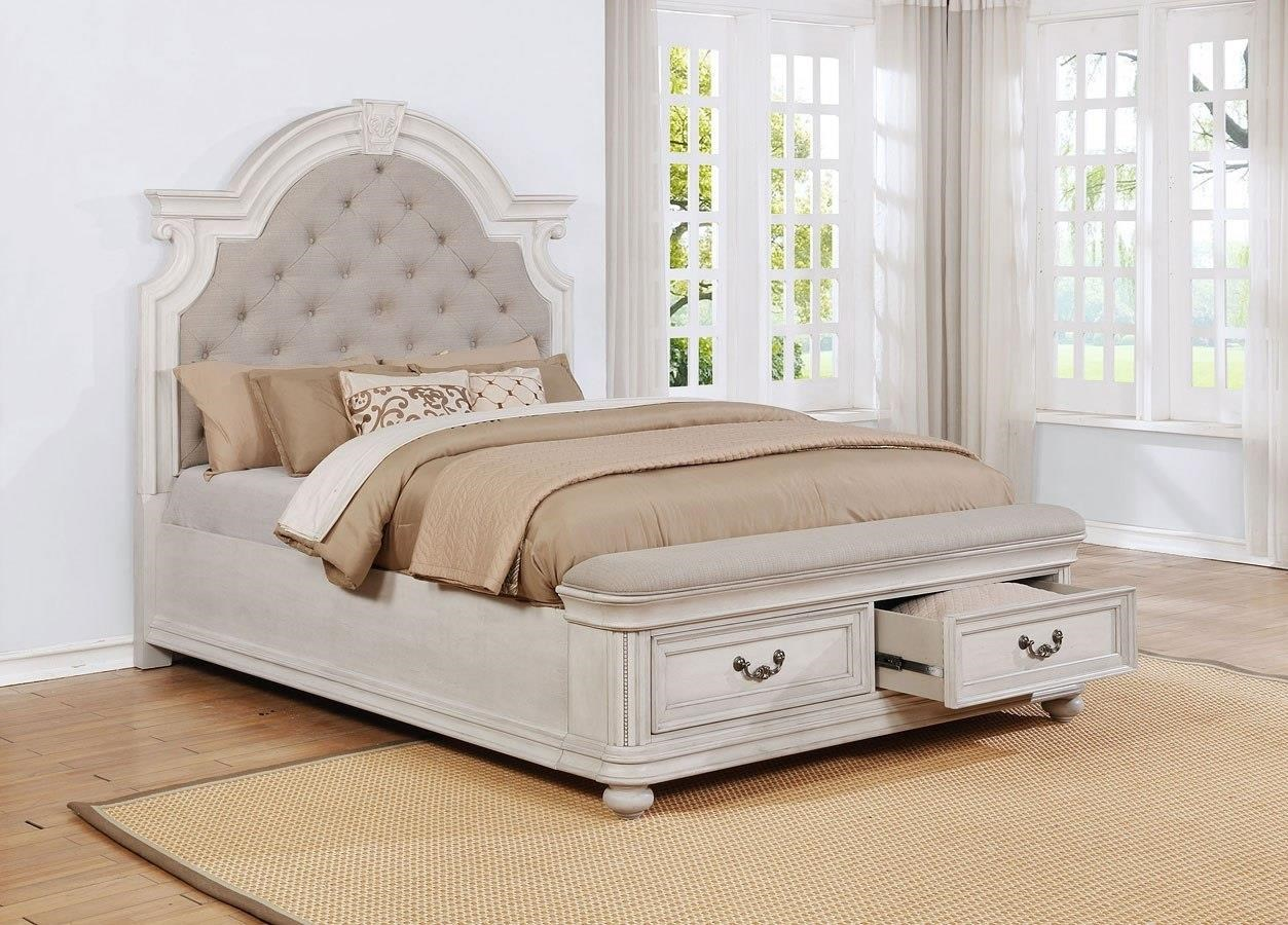 King Upholstery Storage Bed