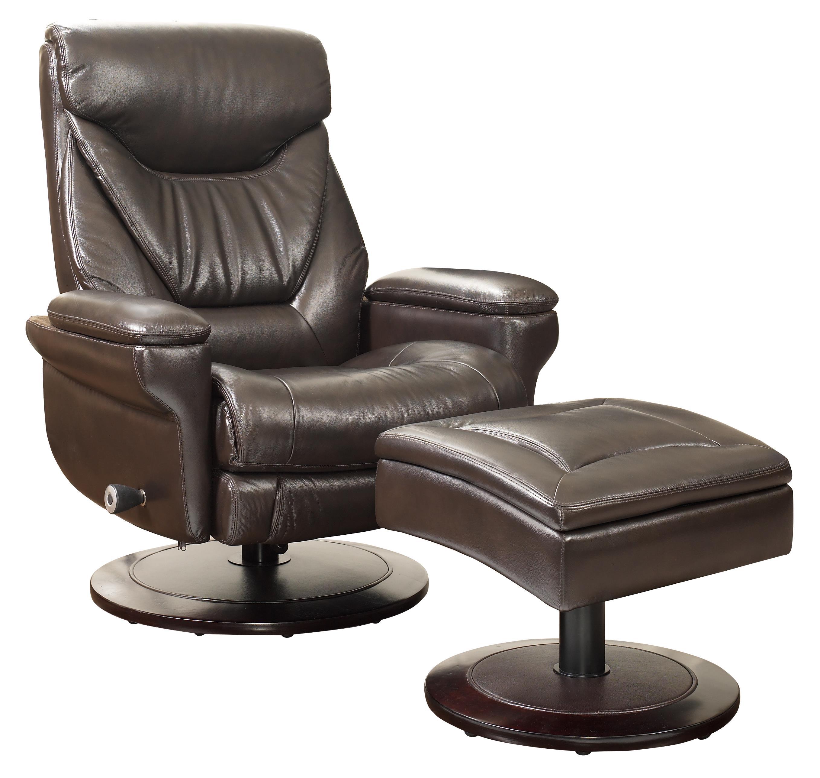 Cinna Pedestal Chair and Ottoman by Barcalounger at Sprintz Furniture