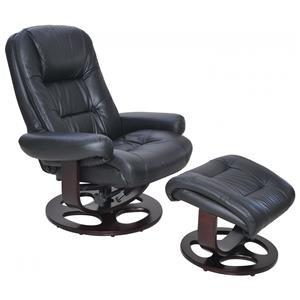 Swivel Pedestal Chair and Ottoman