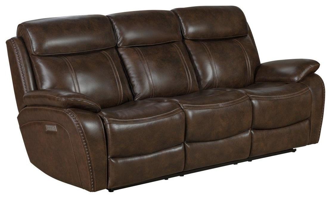 Sandover Powered Reclining Sofa by Barcalounger at Johnny Janosik