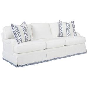 Blaire Traditional Sofa with Kick Pleat Skirt