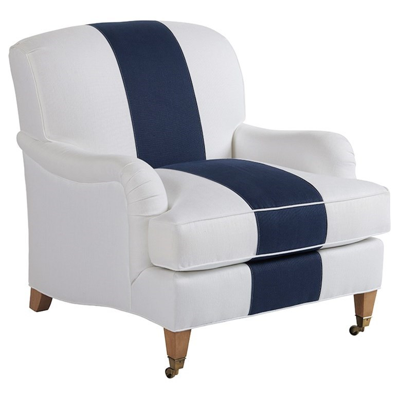 Barclay Butera Upholstery Sydney Chair With Brass Caster by Barclay Butera at Baer's Furniture