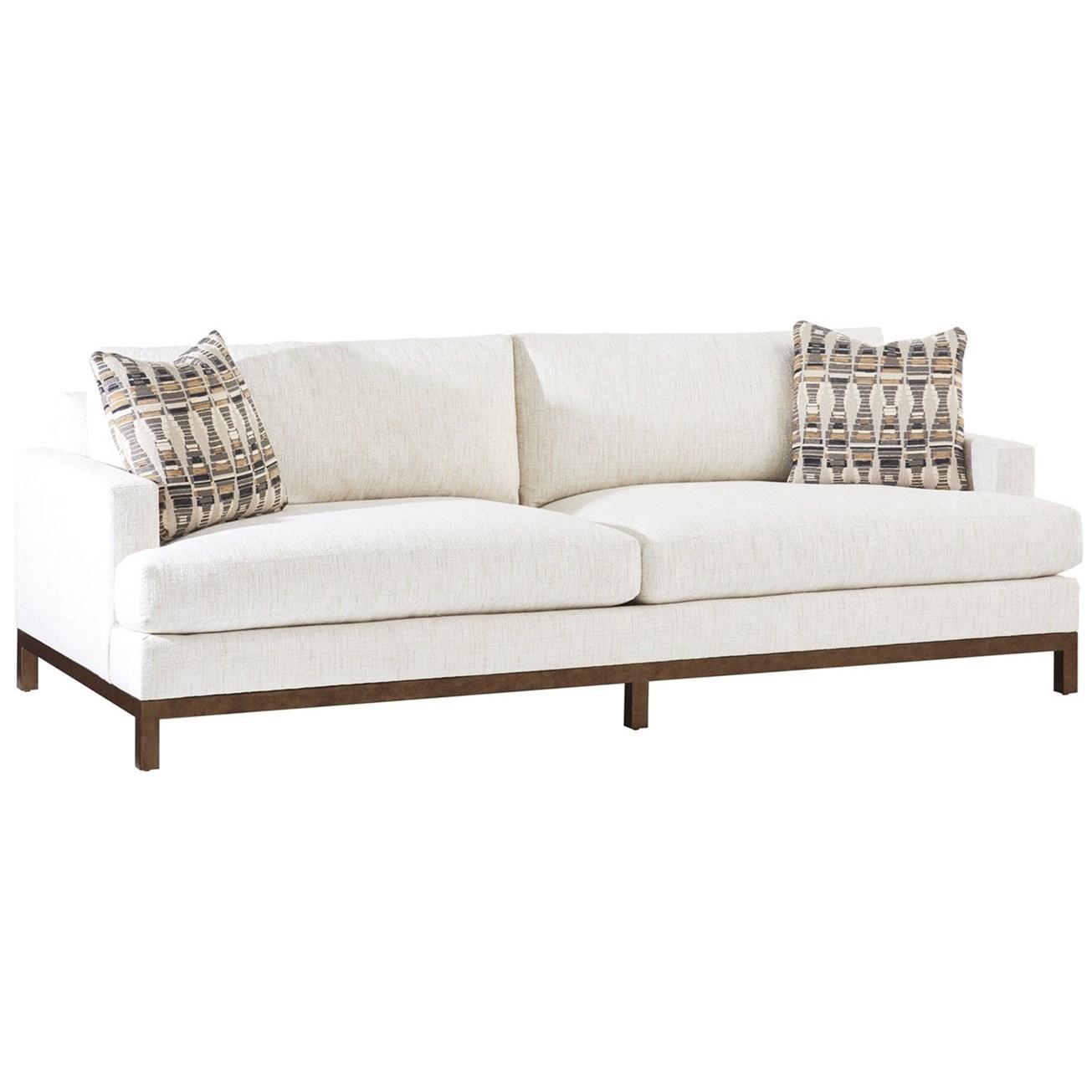 Barclay Butera Upholstery Horizon Sofa w/ Bronze Metal Base by Barclay Butera at Baer's Furniture