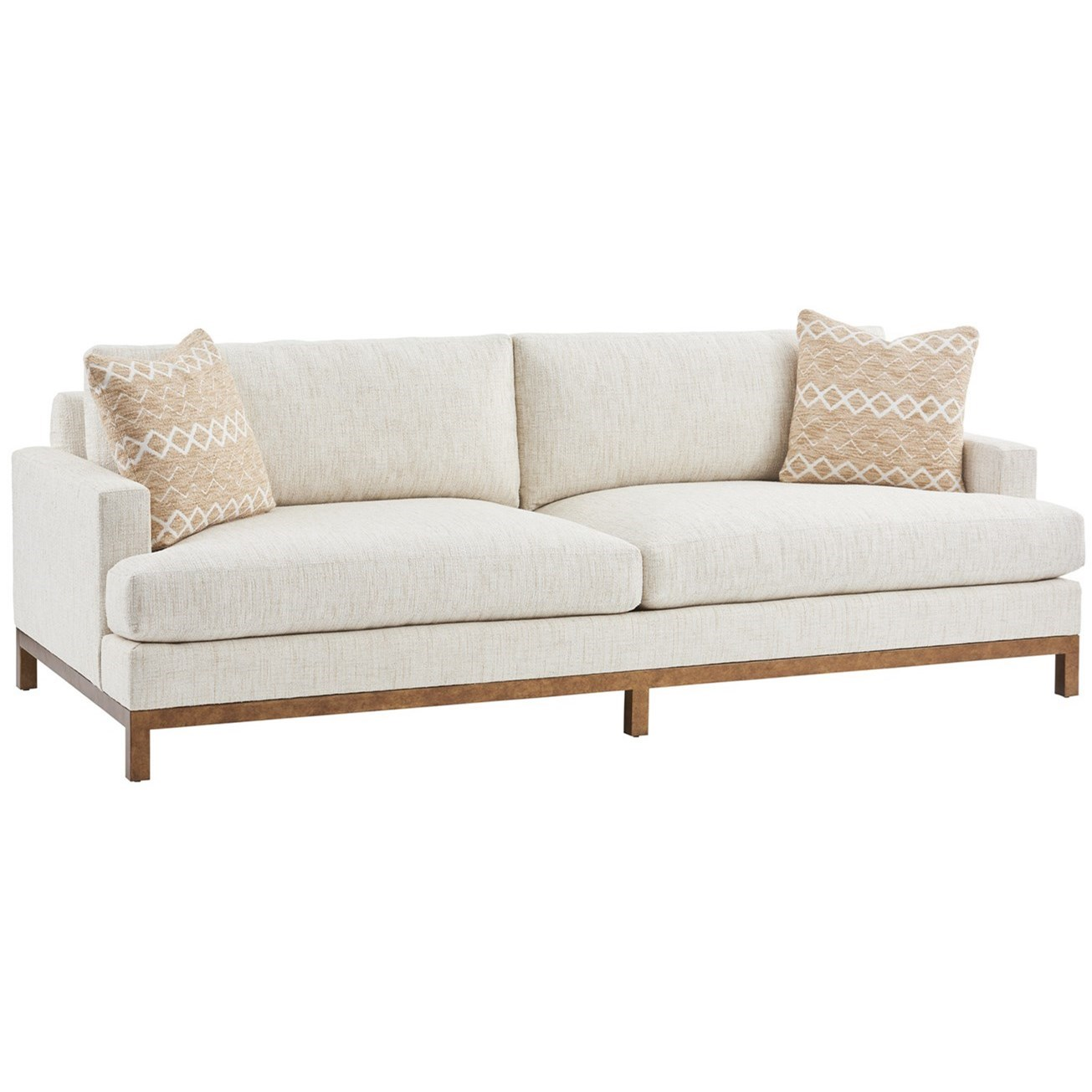 Barclay Butera Upholstery Horizon Sofa w/ Calais Brass Metal Base by Barclay Butera at Baer's Furniture