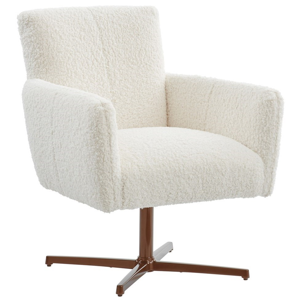 Barclay Butera Upholstery Brooks Swivel Chair with Bronze Base by Barclay Butera at Baer's Furniture