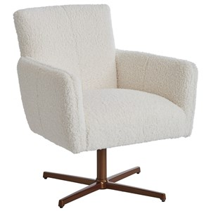 Brooks Swivel Chair with Brass Base