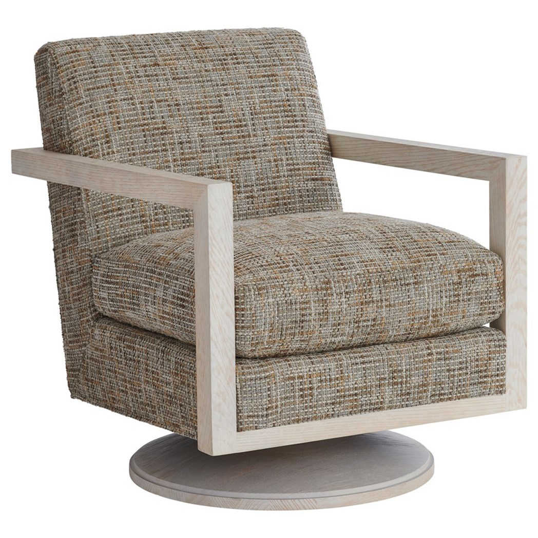 Barclay Butera Upholstery Willa Swivel Chair by Barclay Butera at Baer's Furniture