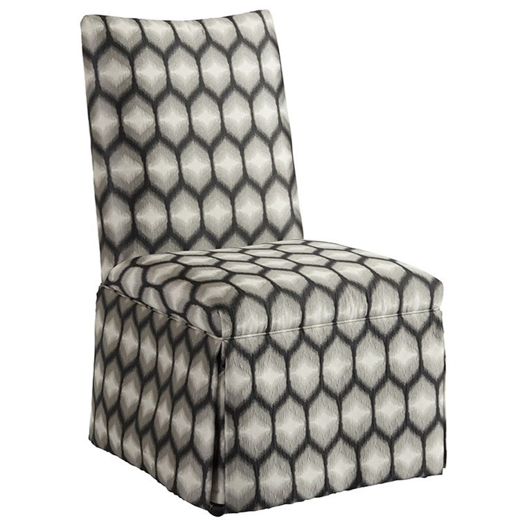 Barclay Butera Upholstery Mackenzie Skirted Dining Side Chair by Barclay Butera at Baer's Furniture