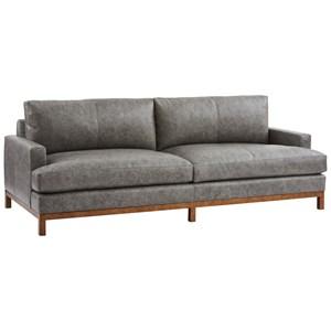 Horizon Sofa w/ Calais Brass Metal Base