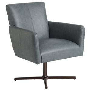 Brooks Swivel Chair with Bronze Base