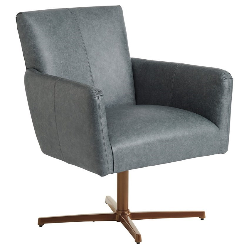 Barclay Butera Upholstery Brooks Swivel Chair with Brass Base by Barclay Butera at Baer's Furniture