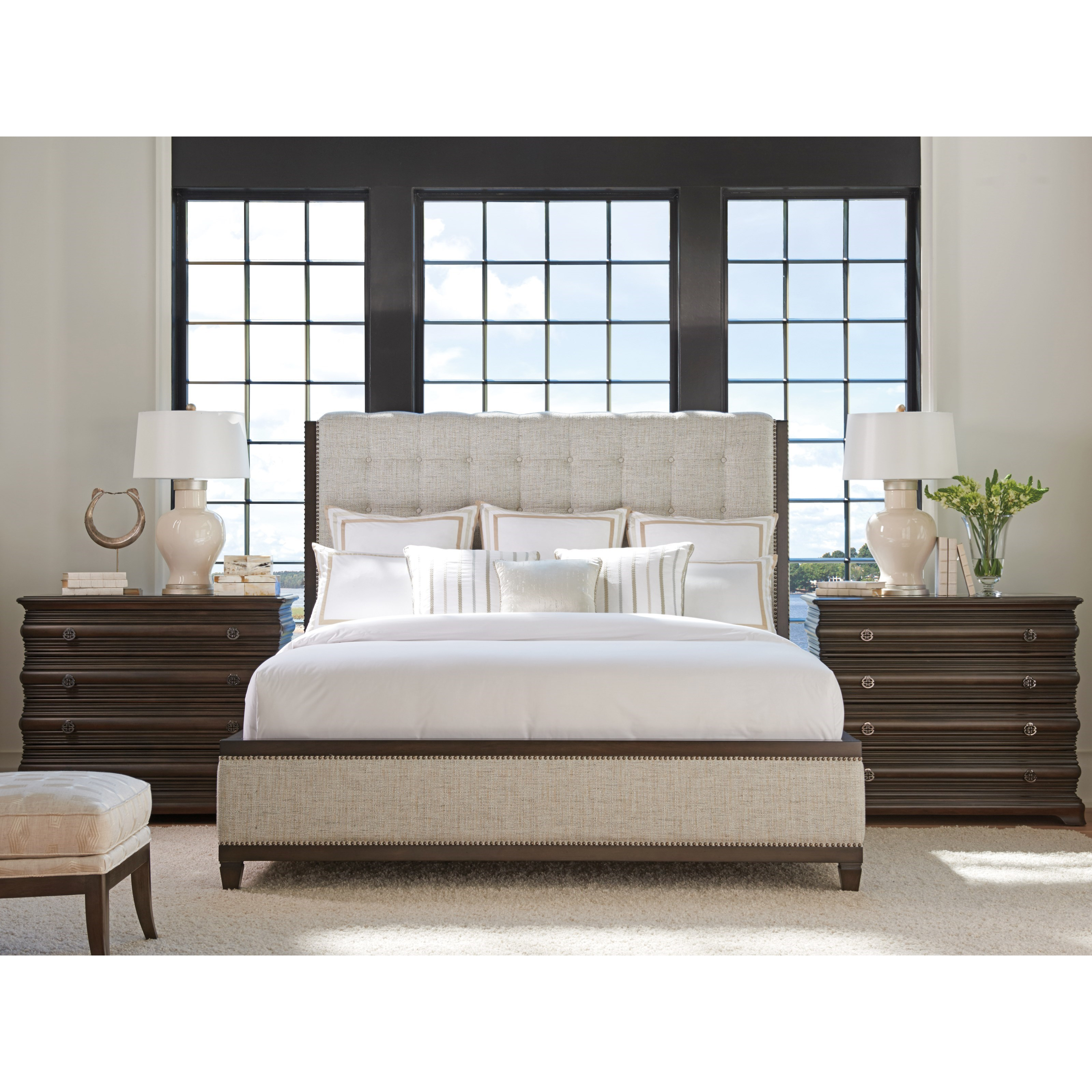 Brentwood Queen Bedroom Group by Barclay Butera at Baer's Furniture