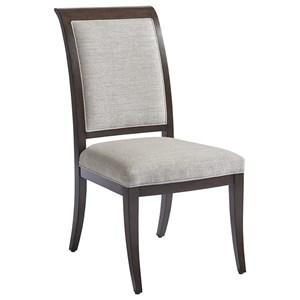 Kathryn Side Chair in Atwood Gray Fabric