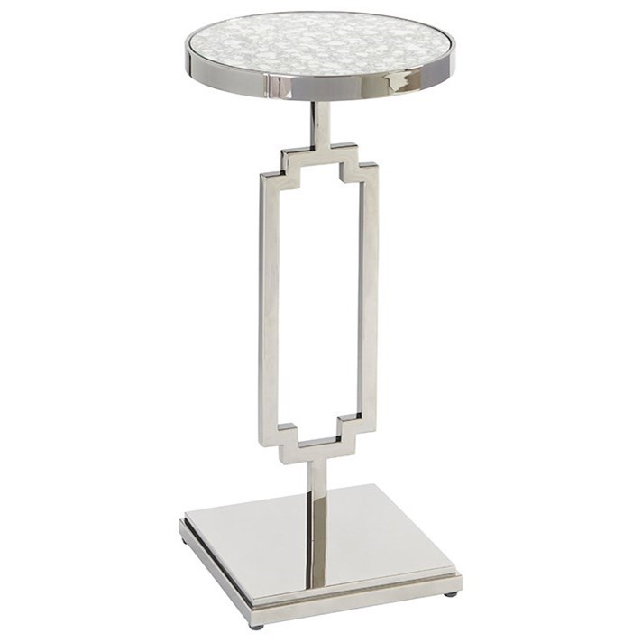 Brentwood Stonehill Metal Accent Table by Barclay Butera at Baer's Furniture