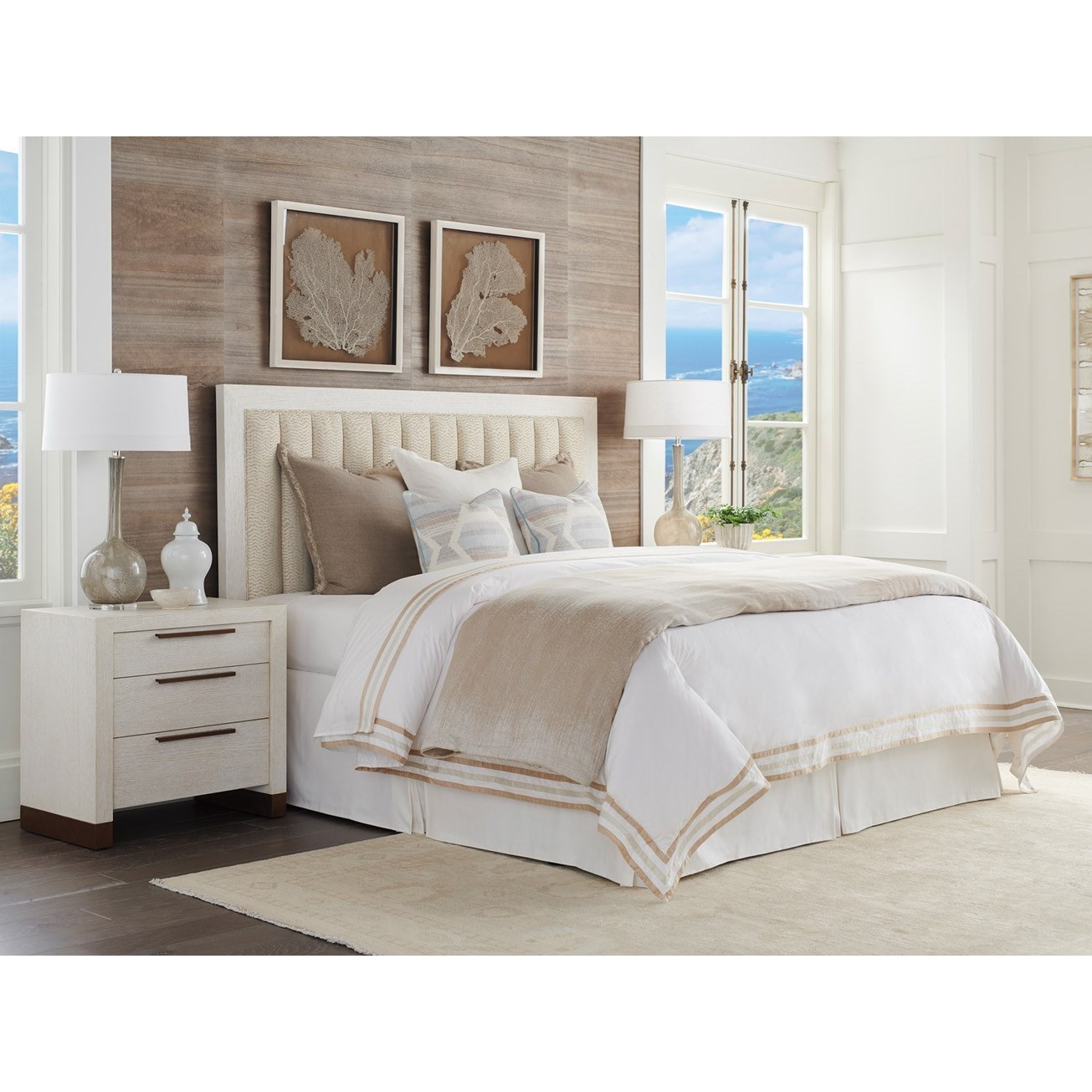 Carmel Queen Bedroom Group by Barclay Butera at Baer's Furniture