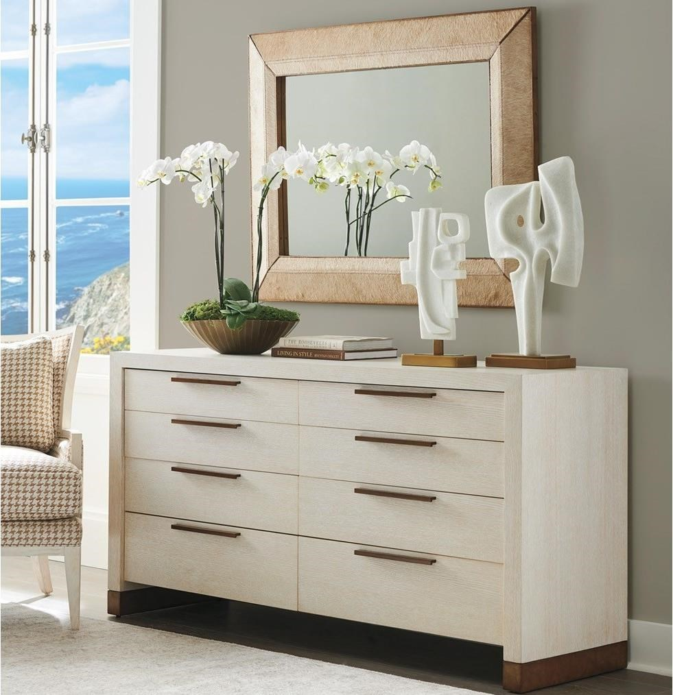 Carmel Dresser and Mirror Set by Barclay Butera at Baer's Furniture