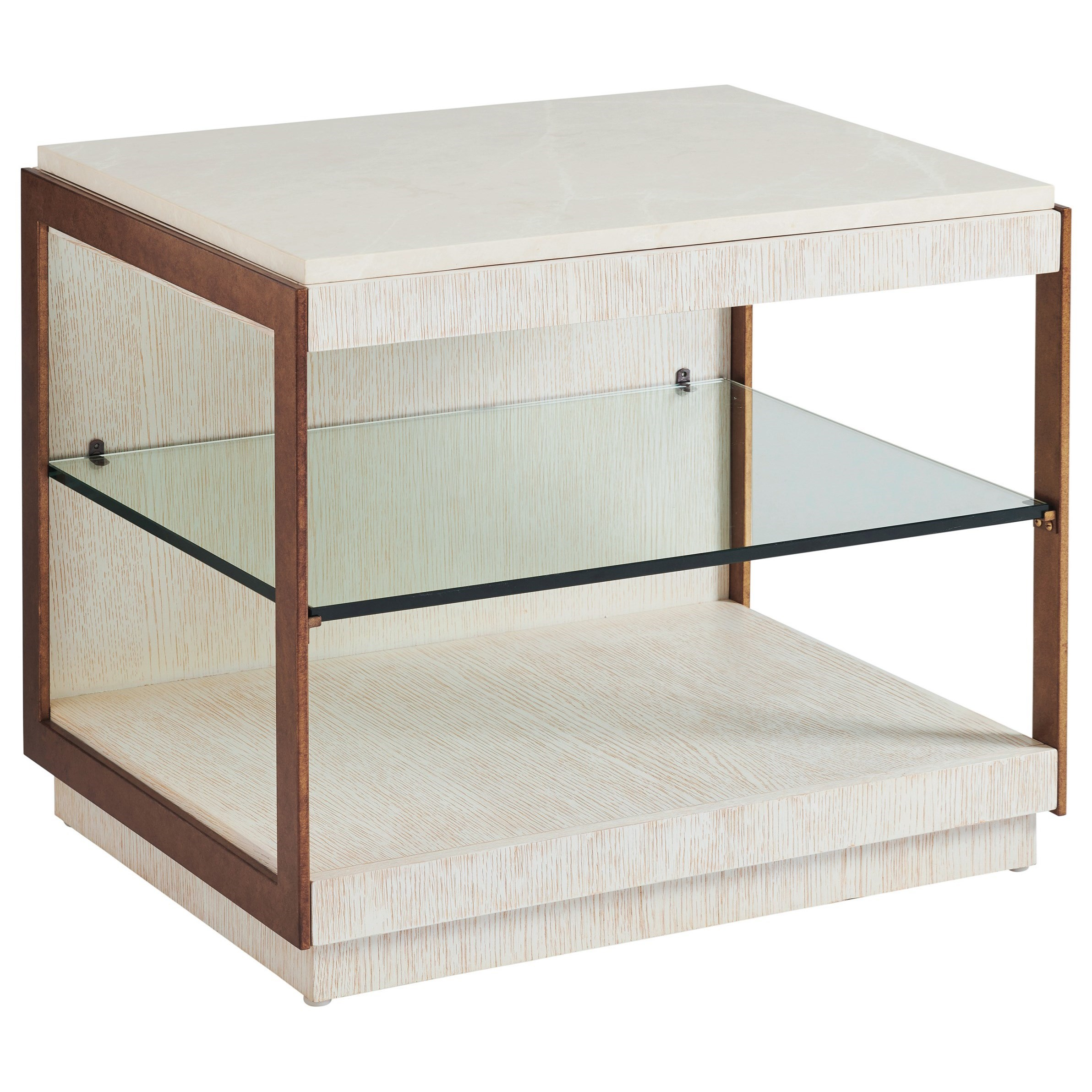 Carmel Point Lobos Rectangular End Table by Barclay Butera at Baer's Furniture