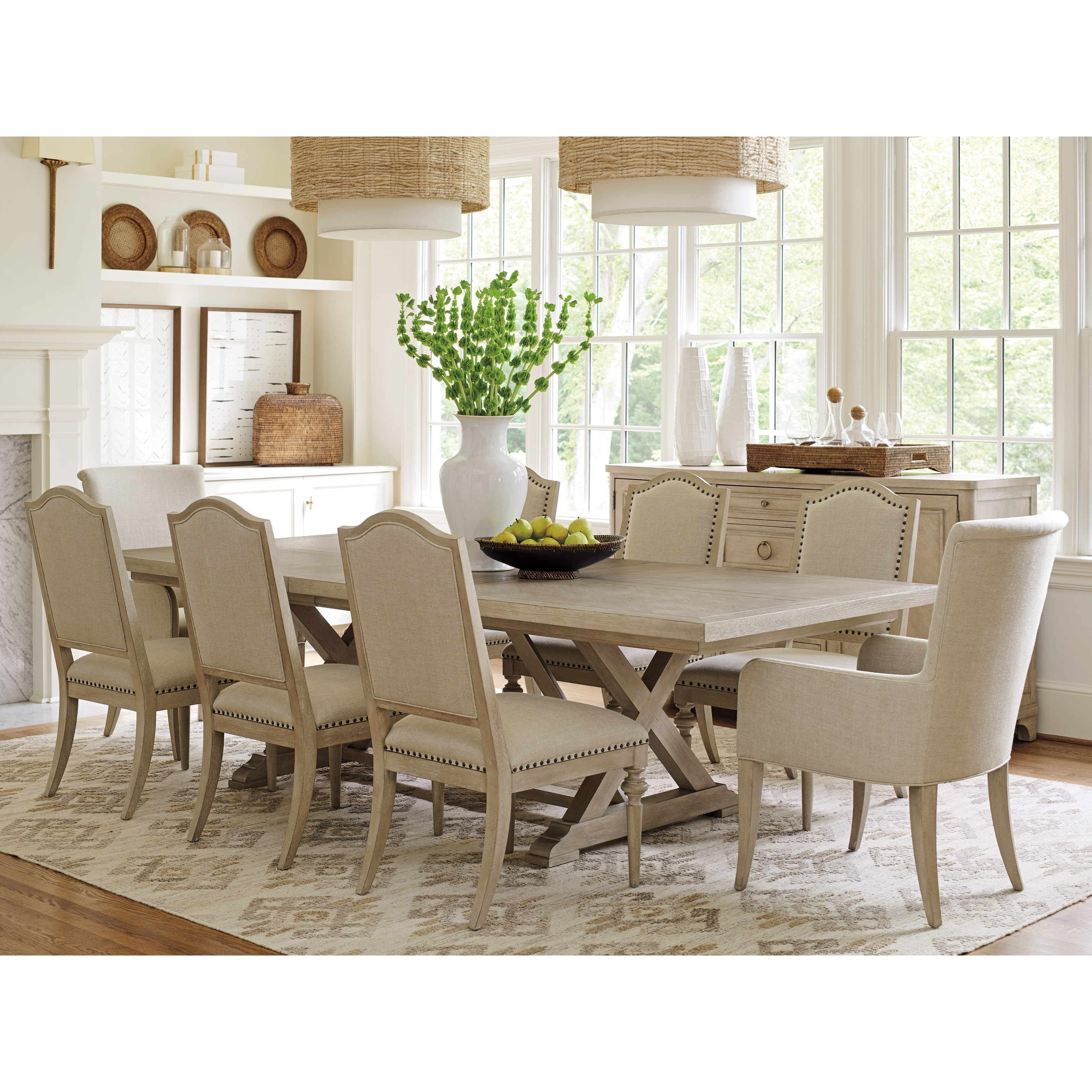 Malibu Formal Dining Group by Barclay Butera at Baer's Furniture