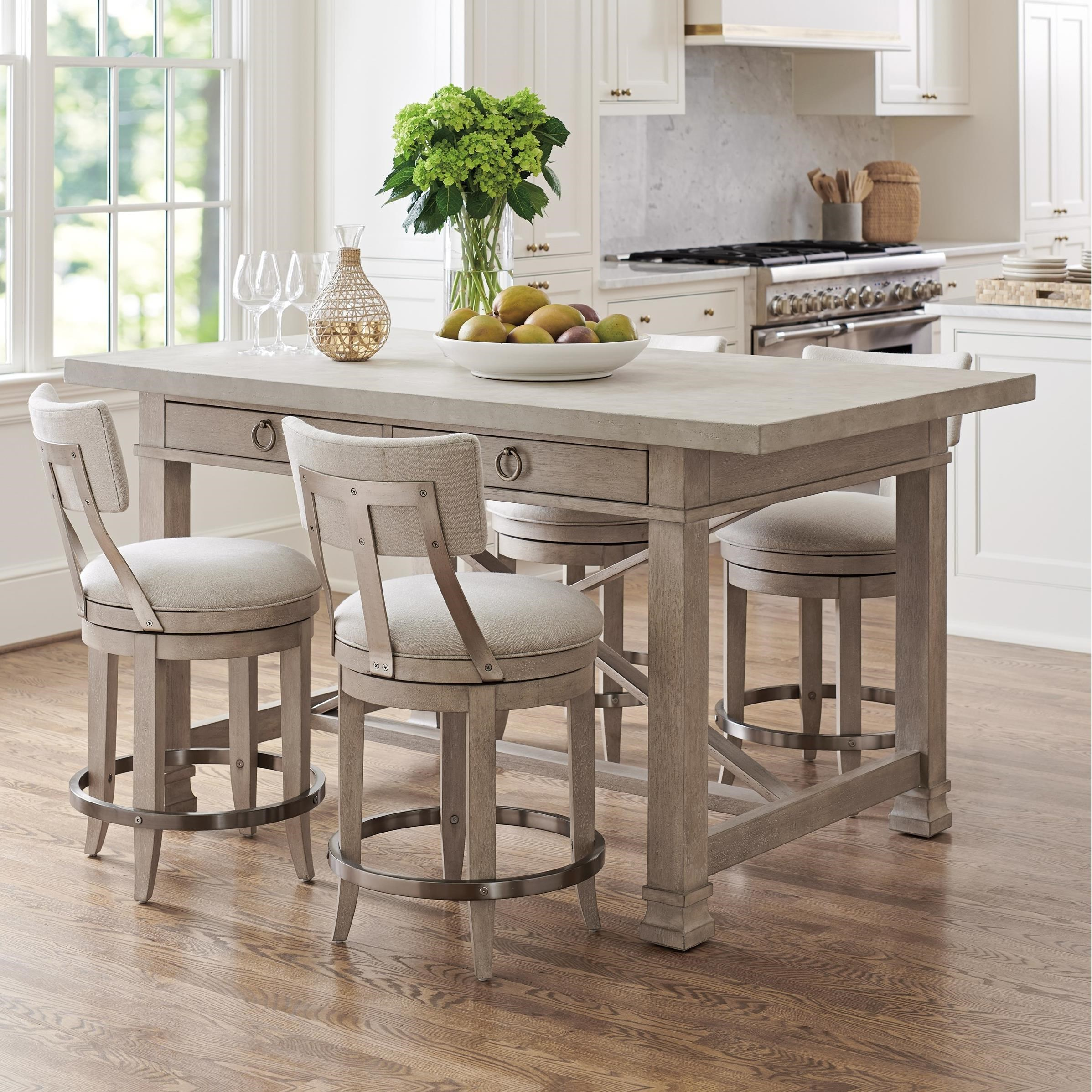 Malibu 5-Piece Counter Height Dining Set by Barclay Butera at Baer's Furniture