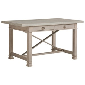Seaboard Counter Height Bistro Table with Concrete Top and 4 Drawers