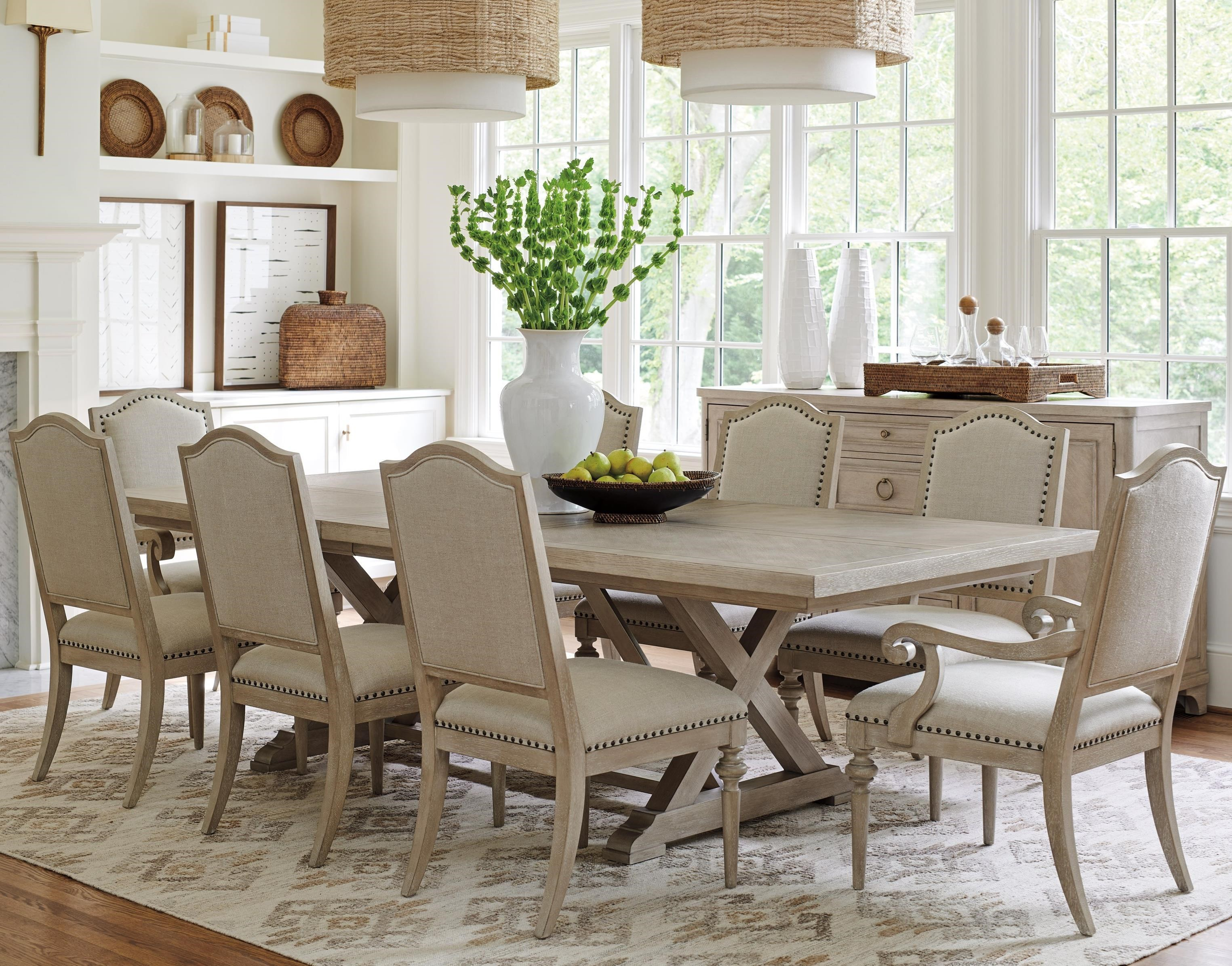 Malibu 9-Piece Dining Set by Barclay Butera at Baer's Furniture