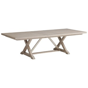 Rockpoint Rectangular Dining Table with Two Table Leaves