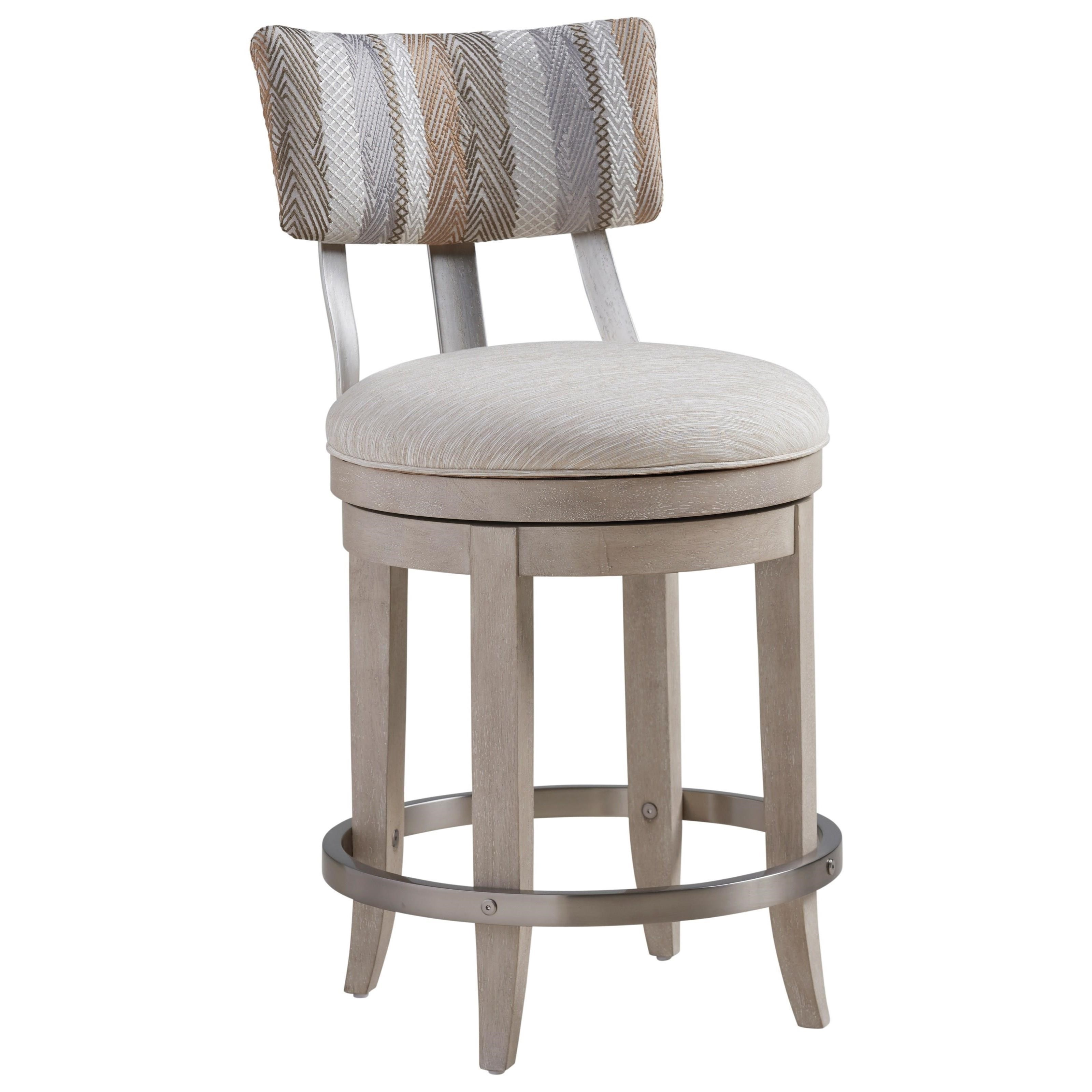 Malibu Cliffside Swivel Upholstered Counter Stool by Barclay Butera at Baer's Furniture