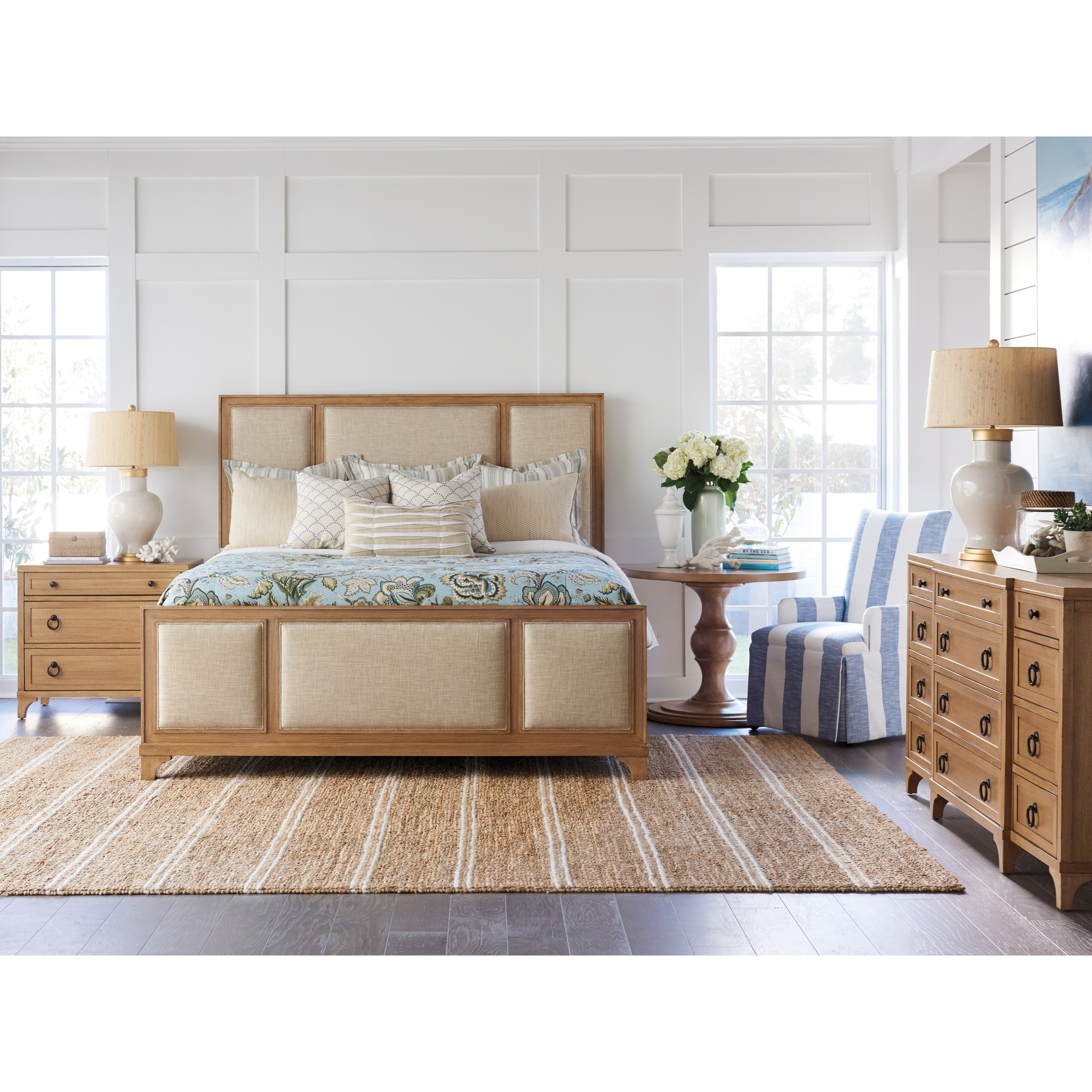 Newport Queen Bedroom Group by Barclay Butera at Baer's Furniture